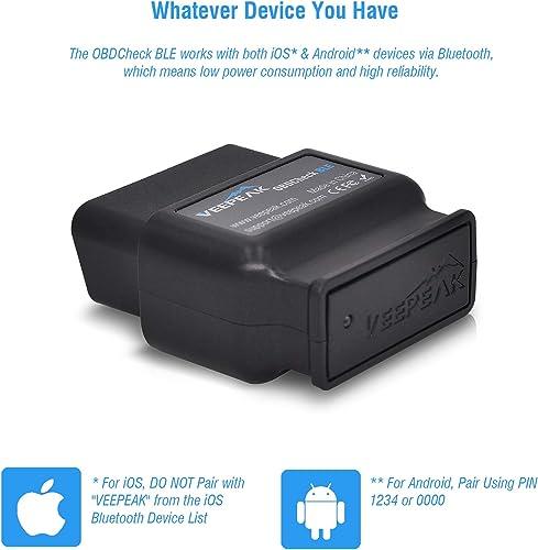 Veepeak OBDCheck BLE OBD2 Bluetooth Scanner