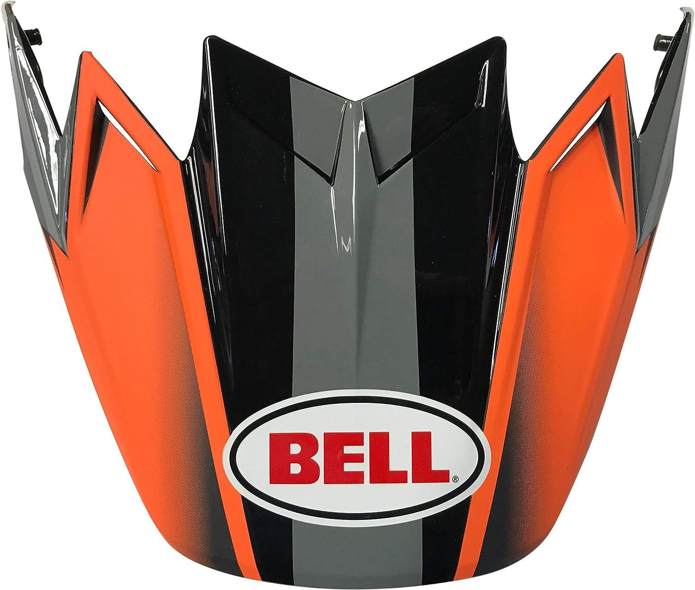 Prophecy Matte Gray//Black//White Bell Moto-9 Visor