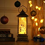 """JEDAWN Christmas Home Decor Snow Globe, 12"""" Glitter Snowman Lantern for Kids' Gift, Christmas Collectibles, Home Decoration, USB & Battery Operated, Best Gift for Christmas"""