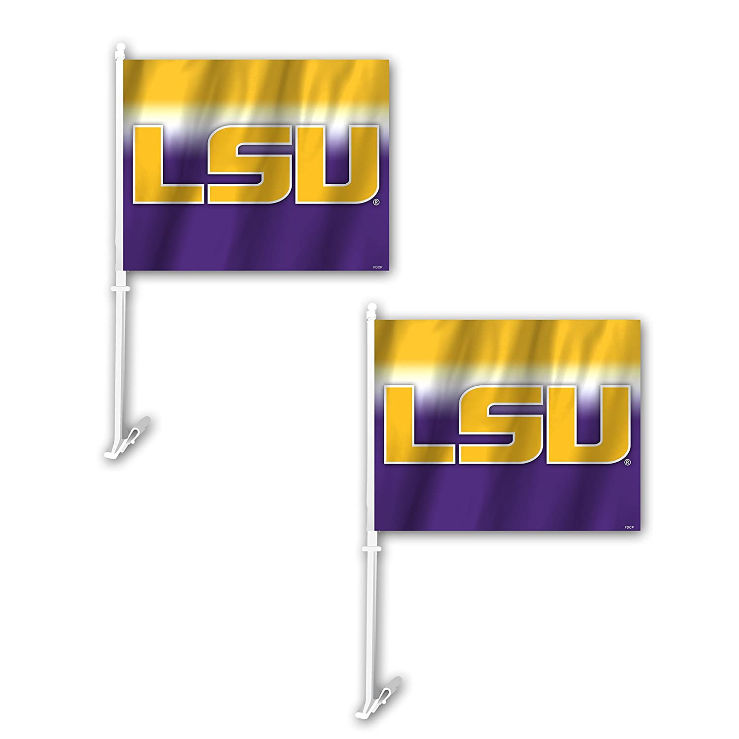 Yellow One Size 2 Pack Fremont Die NCAA LSU Tigers Ombre Car Flag