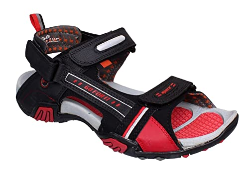 764fb24caed28b Sparx Men s Black and Red Athletic and Outdoor Sandals - 7 UK (SS0430G)   Buy Online at Low Prices in India - Amazon.in