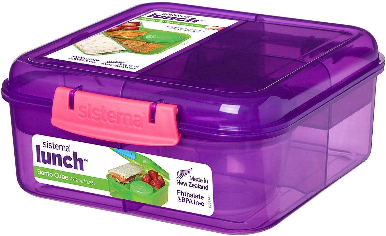 Fiambrera Bento Cube 1250 ml rosa