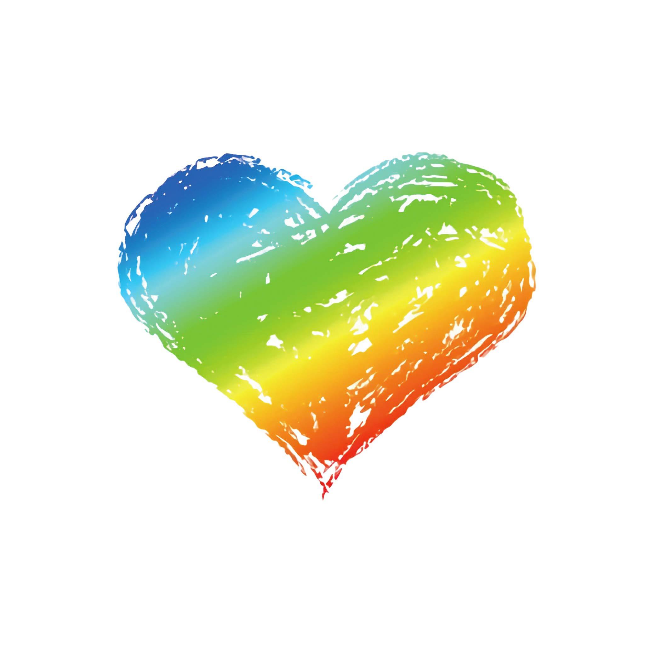 c46bbfb178f94 (6 pack) LGBT Pride Rainbow Heart Decor Temporary Tattoo - Waterproof Cute  Realistic Gay Body Art Stickers ...