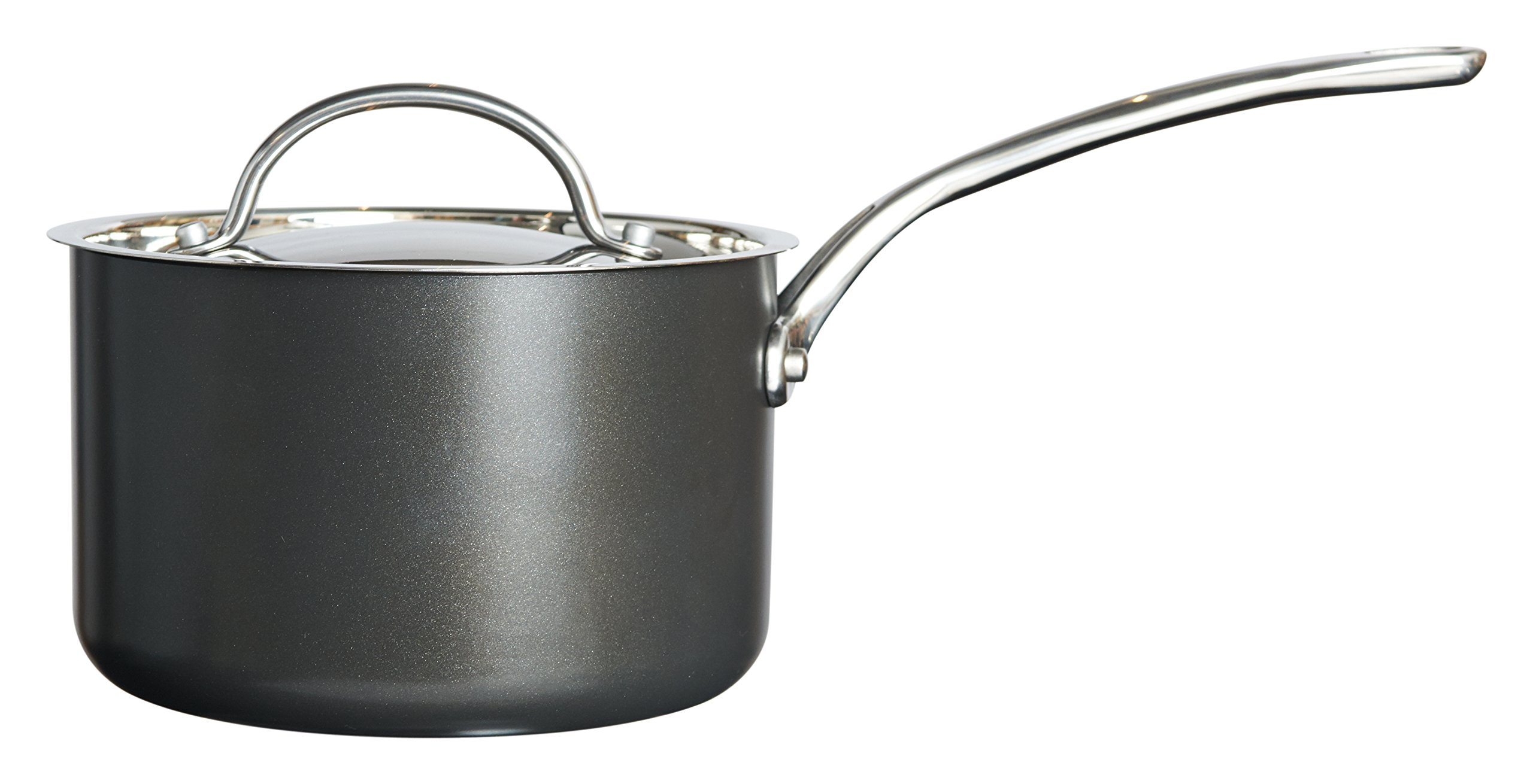 Raymond Blanc Simply Perfect 18 Cm Saucepan With Lid - Black by Raymond Blanc