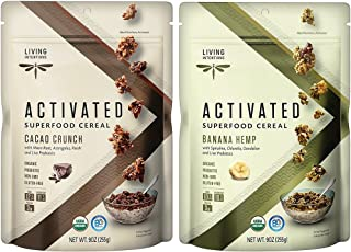 product image for Living Intentions Gluten Free Superfood Probiotic Cereal 2 Flavor Variety Bundle: (1) Banana Hemp, and (1) Cacao Crunch, 9 Oz. Ea. (2 Bags)