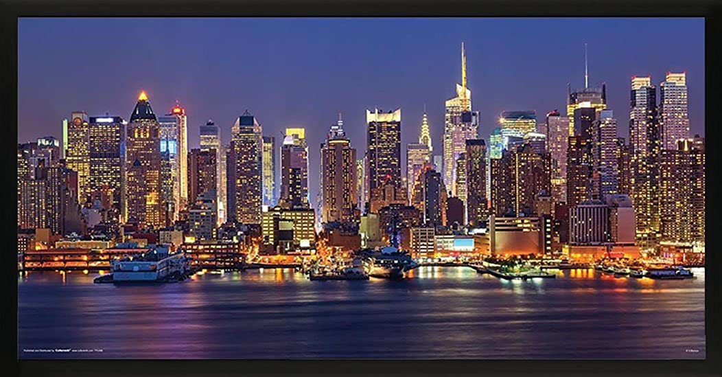 New York City (NYC) Manhattan at Night Decorative Photography Poster Print