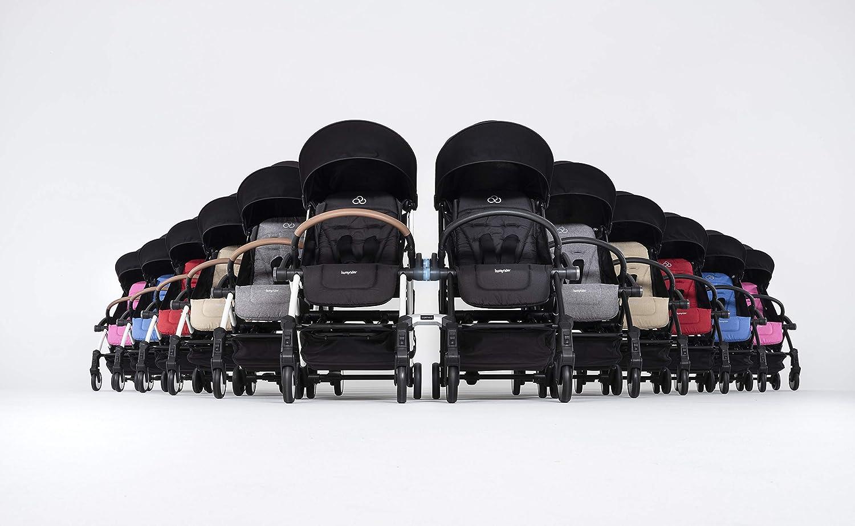 Silla de paseo con estructura de color negro y gris Bumprider Connect 2