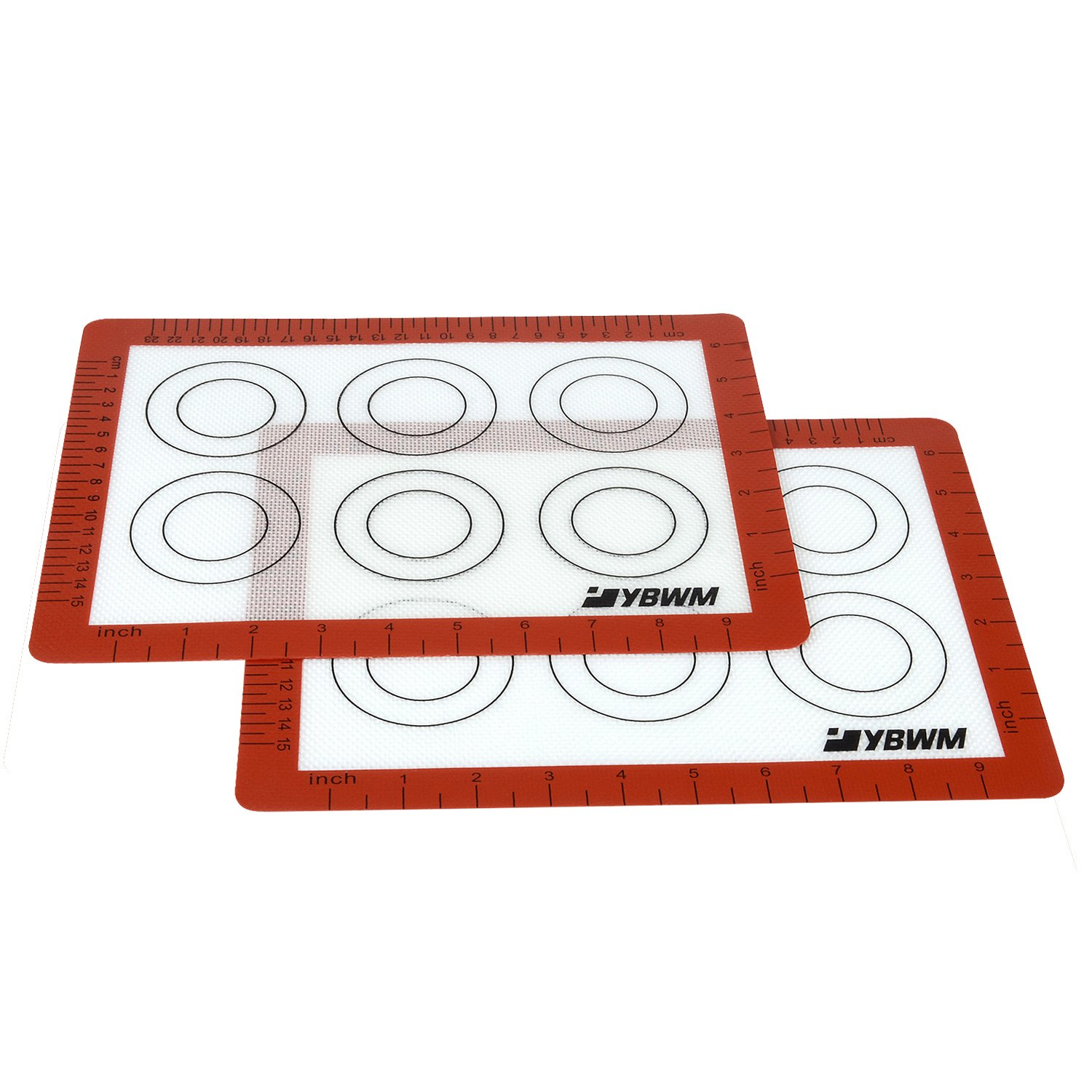 Silicone Baking Mats, Cookie Sheets for Baking Non Stick Half Sheet, YBWM Cookie Mats for Cookie Sheet Pans (16.5x11.6inch) YBWM-US-SSH-201
