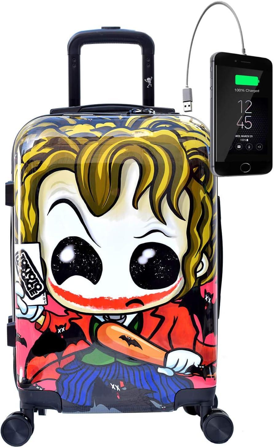 TOKYOTO - Maleta de Cabina Equipaje Infantil Niños Joker, 55x40x20 cm | Maleta Juvenil, Trolley de Viaje Ryanair, Easyjet | Maleta de Viaje Rígida