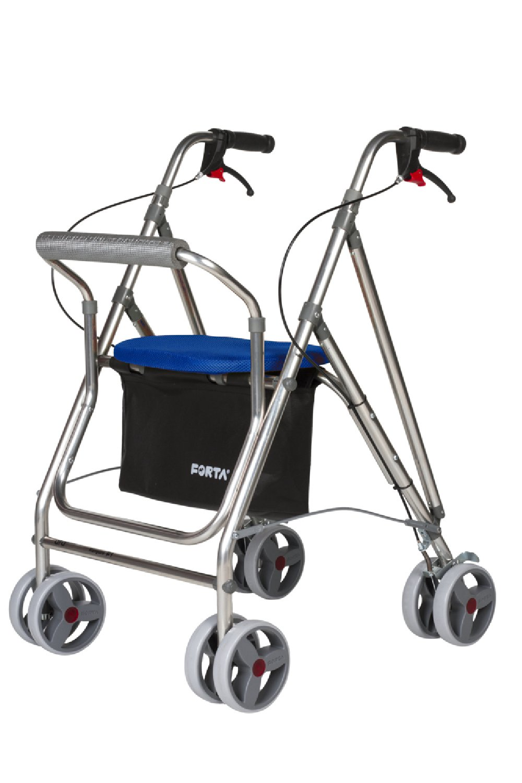 Andador para ancianos plegable, de aluminio con 8 ruedas ...