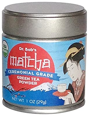 Organic Matcha Green Tea Powder Ceremonial Grade 1.0 Oz - 29 grams