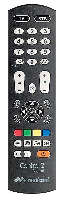 105 opinioni per Meliconi CONTROL 2 DIGITAL Telecomando Universale 2 in 1 per TV e Decoder