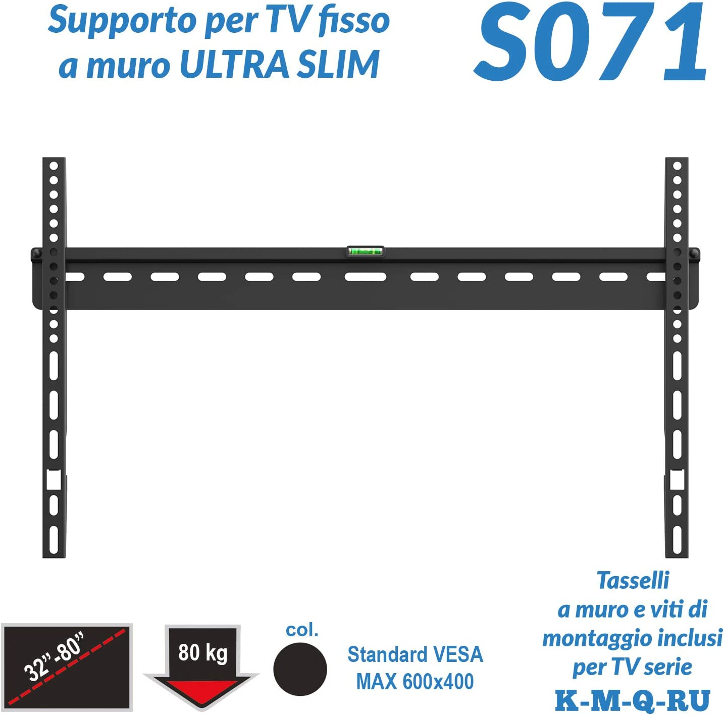 S071 - Soporte Fijo Ultrafino de Pared para televisor de Pantalla Plana de 32