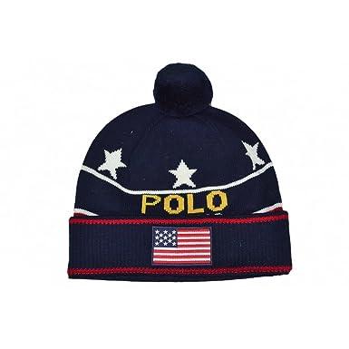 Ralph Lauren Bonnet USA Bleu Marine pour Homme  Amazon.fr  Vêtements et  accessoires f31f2cb9525