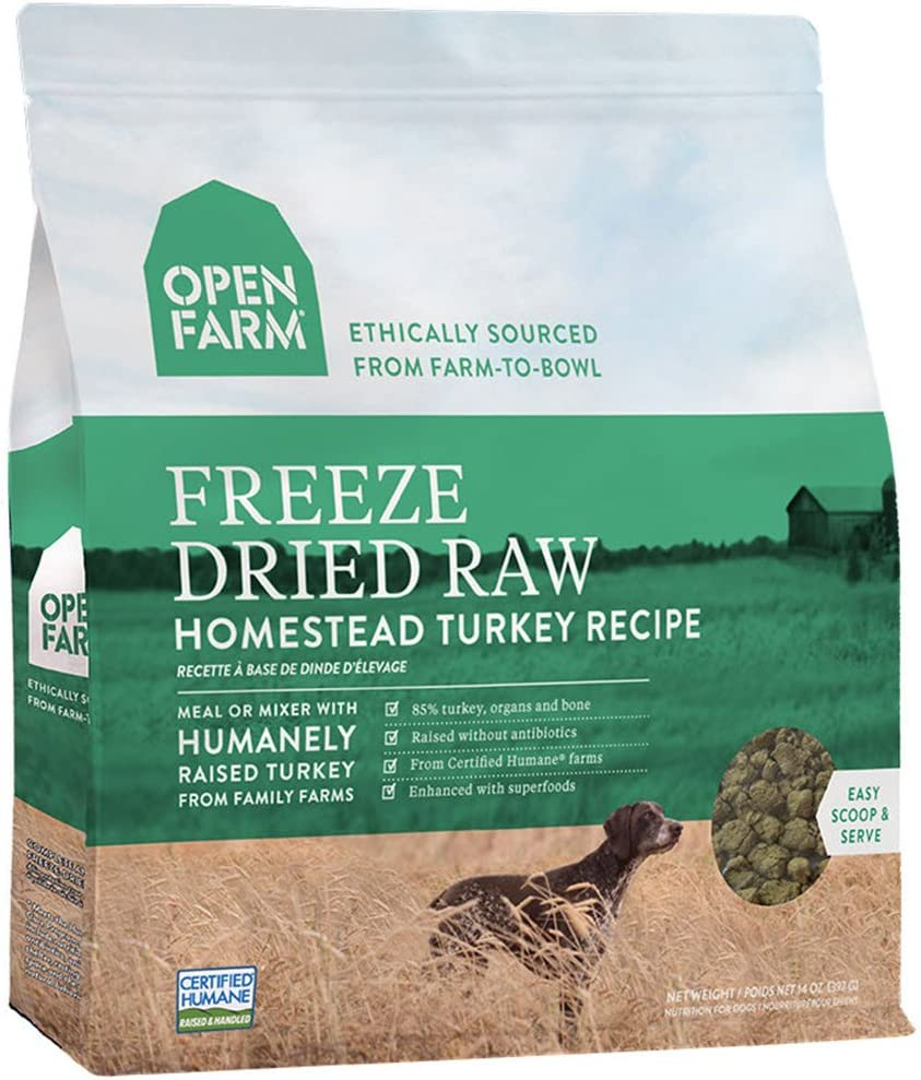 Open Farm Freeze Dried Raw Grain Free Dog Food 13.5 oz