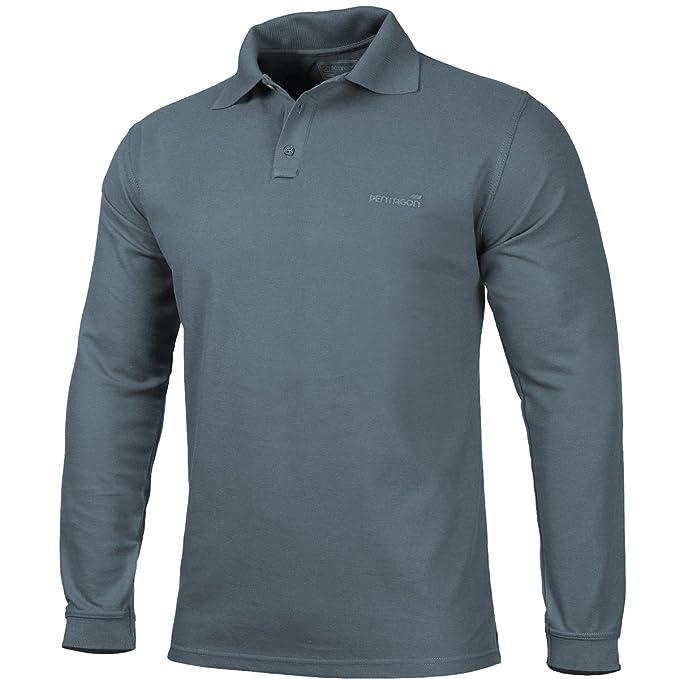 PENTAGON Hombres Polo 2.0 Camisa Long Sage: Amazon.es: Deportes y aire libre