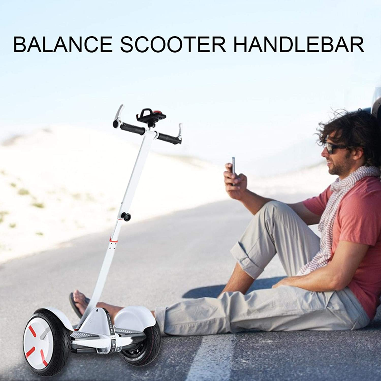 10 Inch Balance Scooter Handlebar Aluminum Alloy Balance Scooter Handle Bar Excellent Support Retractable Extension Rod Scooter Handlebar