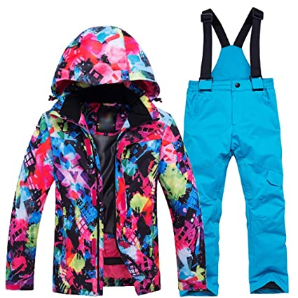 ea8cc0c73 Yishelle Ski Suit Kids Ski Suit Set Children Girls Thick Waterproof ...