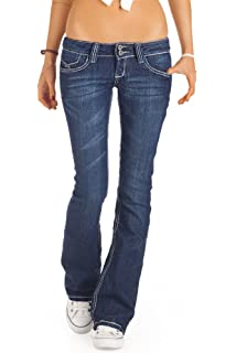 fcc6da1a9f66 BestyledBerlin Jeans Taille Basse Style Low Rise Jeans pour Femme ...