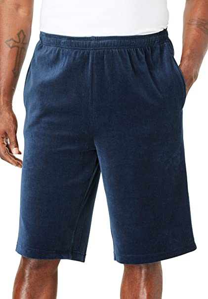 KingSize Mens Big /& Tall Velour Shorts