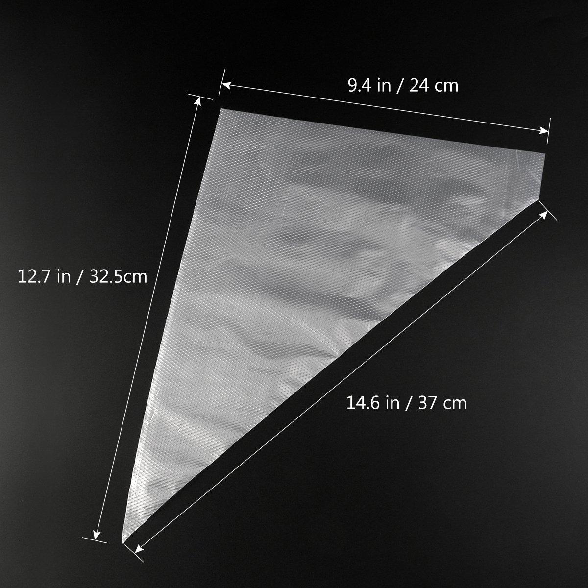 Paquet de 100 pi/èces BESTOMZ Poches /à Douille Jetables en Plastique pour Gla/çage G/âteau