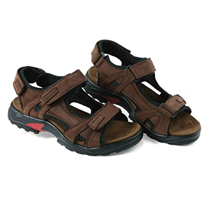 Gregsia Sasa Top Quality Men Sandals Summer Outdoor Shoes Leather Sandals Plus Size 46 47 48