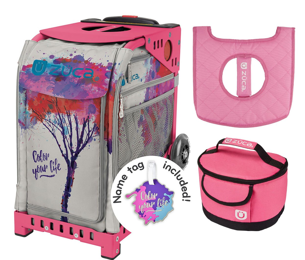 Zuca Sport Bag - Color Your Life with Gift Lunchbox and Seat Cover (Pink Frame) by ZUCA (Image #1)