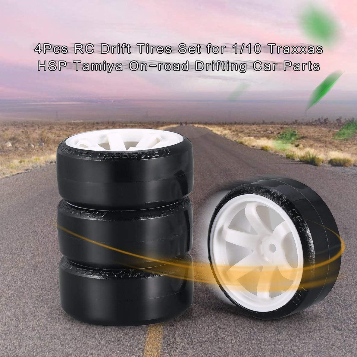 grau nbvmngjhjlkjlUK 4-teiliges RC-Drift-Hartplastik-Hartreifenset f/ür Traxxas HSP Tamiya HPI RC-Ersatzfahrzeuge f/ür Stra/ßenfahrzeuge