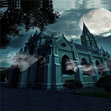 kate 10x10ft halloween night backdrops photography fantasy sky ghost castle background photo microfiber material for halloween