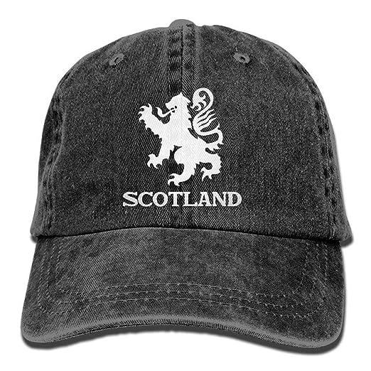 Lion Rampant Scotland Scottish Washed Retro Adjustable Cowboy Cap Trucker  Hats For Women And Men 54862febcb0