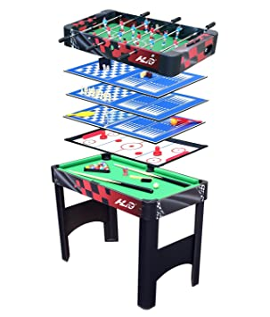 HLC 3FT 6 In 1 Multi Game Table Combo Table Includeds Pool/Snooker, Football