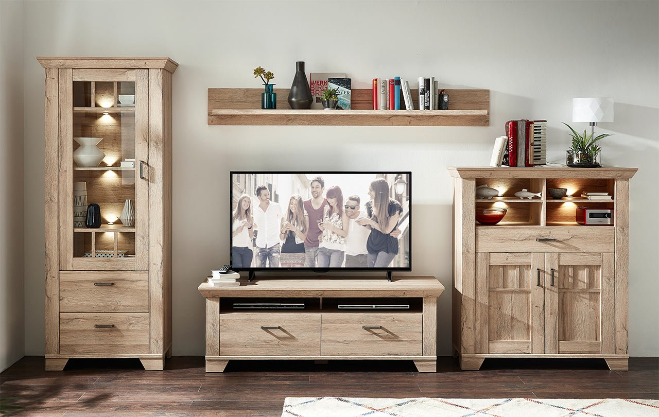 Wohnzimmerschrank, Wohnwand, Schrankwand, Anbauwand, Fernsehwand ...