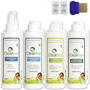 Amazon Natural Family Size Head Lice Treatment Kit No Poisons