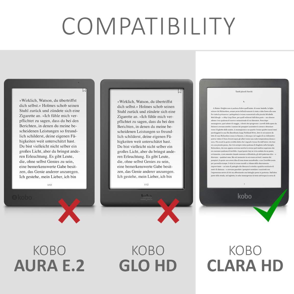 kwmobile Funda para Kobo Clara HD Case con dise/ño de /árbol y Estrellas Carcasa para e-Reader de Cuero sint/ético