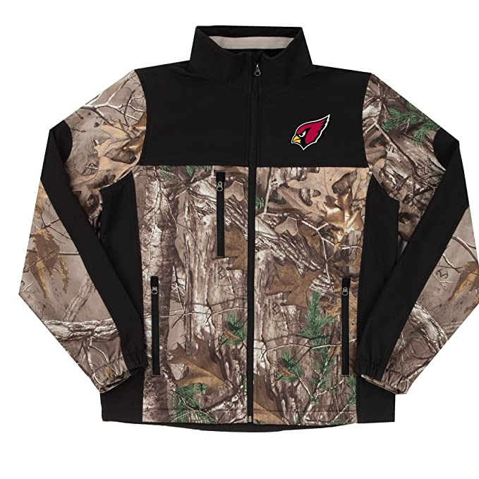 online store 866b3 28ae6 NFL Hunter Camoflauge Colorblock Softshell Jacket