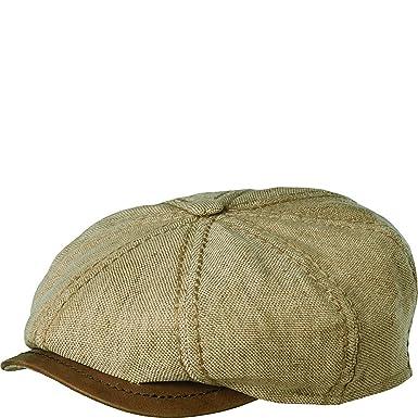 43d68c5f193 Stetson Men s Terel Linen Leather 8 4 Cap