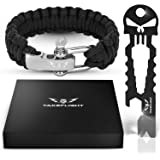 Multi Tool Everyday Carry Survival Kit - Gadgets for Men Tactical Survival Gear w/Paracord Bracelet + Keychain Bottle Opener Tool | Birthday Gifts for Men, Men's Christmas Stocking Stuffer, Father's