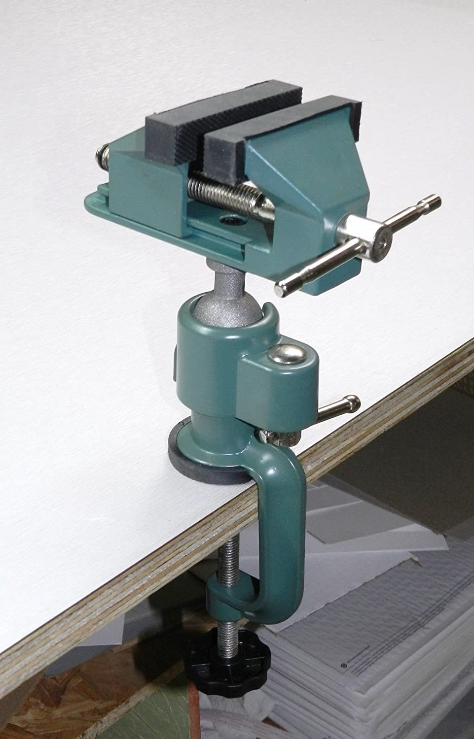 360° Rotate Table Top Bench Vice Fixed Electric Drill Vise Tilt Adjustable Clamp