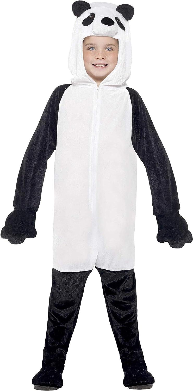 Smiffys Disfraz de Oso Panda, Negro y Blanco, Traje Entero con ...