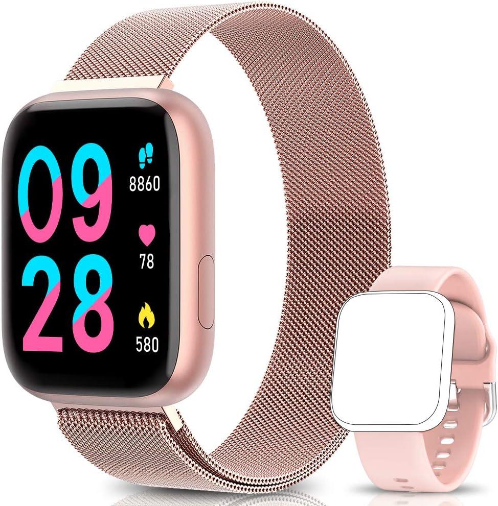 BANLVS Smartwatch Reloj Inteligente IP67 con Correa Reemplazable Pulsómetro, Monitor de Sueño, Presión Arterial, 1.4 Inch Pantalla Táctil Completa Reloj Inteligente para Mujer Hombre: Amazon.es: Electrónica