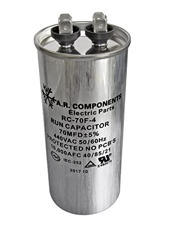 RUN CAPACITOR 70 MFD 440 VAC ROUND CAN UL Certified Pack Of 1