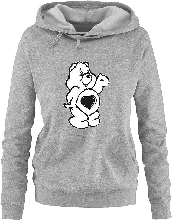Comedy Shirts Herren Hoodie Langarm Print-Pulli K/ängurutasche Kapuze Gl/ücksb/ärchi