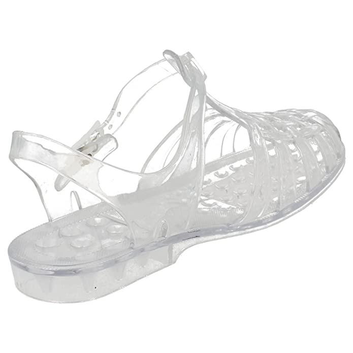 0380dfb7baf1 Ladies Classic Transparent Buckled Jelly Shoes  F0714  - Clear
