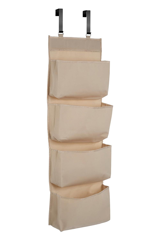 Türregal stoff  Premier Housewares Türregal aus Stoff, mit 4 Fächern, Polyester ...