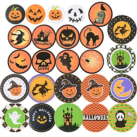 330pcs Halloween Pegatinas Etiquetas Adhesivas Redondas para ...