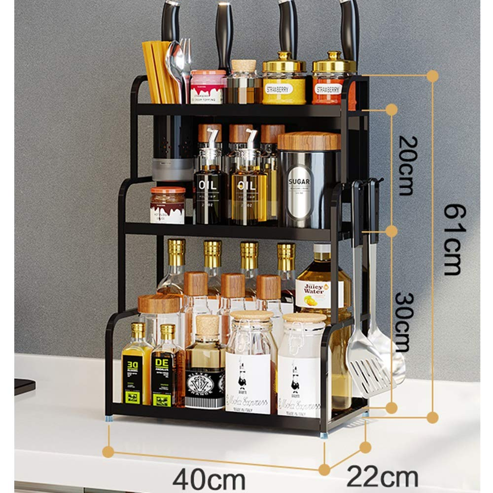Kitchen shelf HUO Multi-Layer Wall Hanging Knife Holder Kitchen Storage Rack Multifunction (Color : No Chopsticks, Size : 40CM)