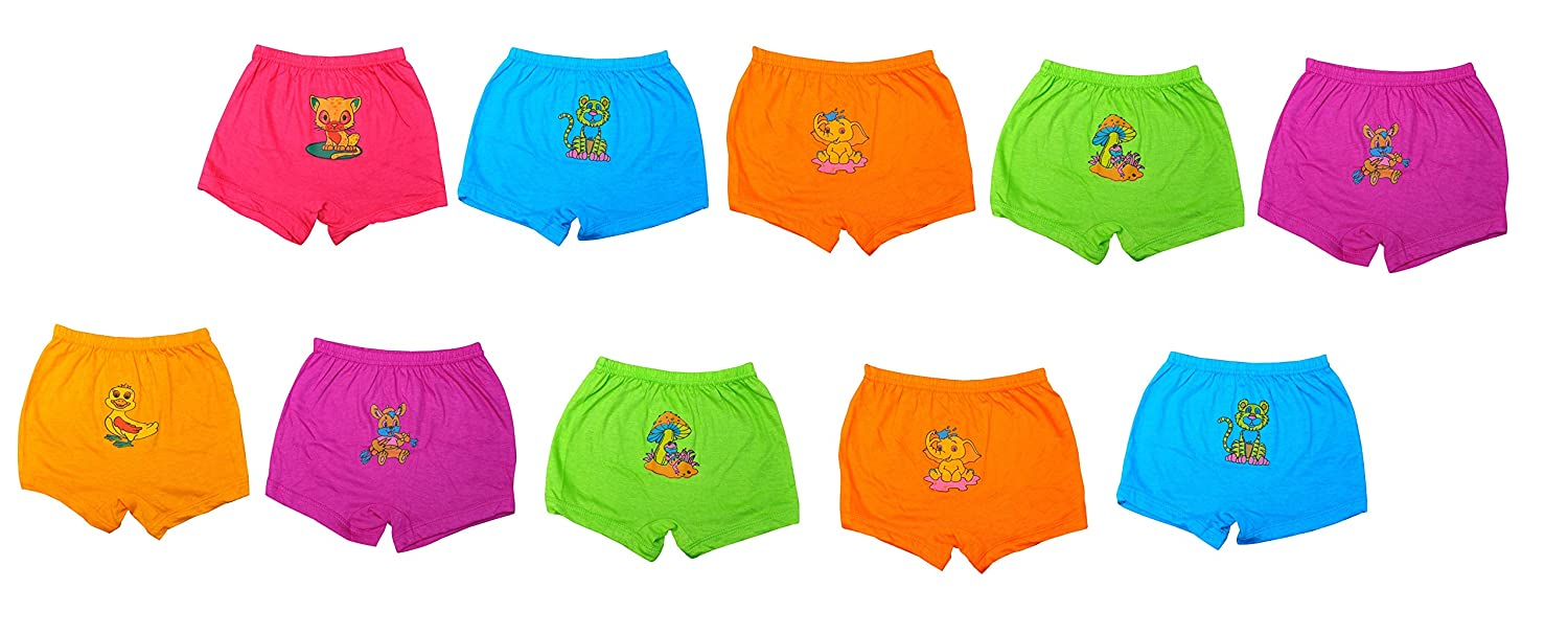 MRB Girls' Cotton Bloomers (Pack of 10)