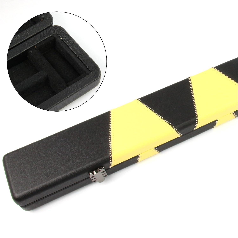 Profesional de alta calidad amarillo y negro 3/4 billar caso ...