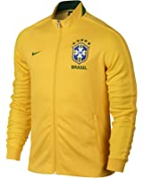 Nike N98 Brazil CBF Authentic Track Soccer Jacket (Yellow)