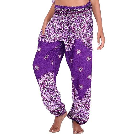 Cintura Media de Yoga Pantalones, YpingLonk Linterna Suelto Jumpsuit ...